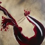 wine painting on canvas
