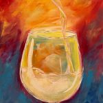 wine painting class on canvas