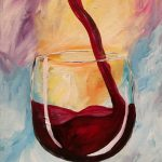 wine on canvas painting
