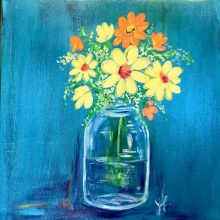Mason Jar and Daises Painting, January 17th, 6-9