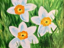 Kids Flower Painting April 6th, 2020