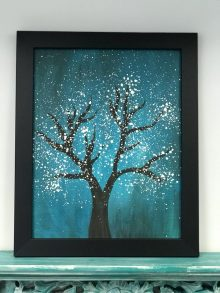 Framed Painted Tree: December 6th, 2018