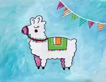 Kids ages 9+ Llama Painting: April 1st, 2019